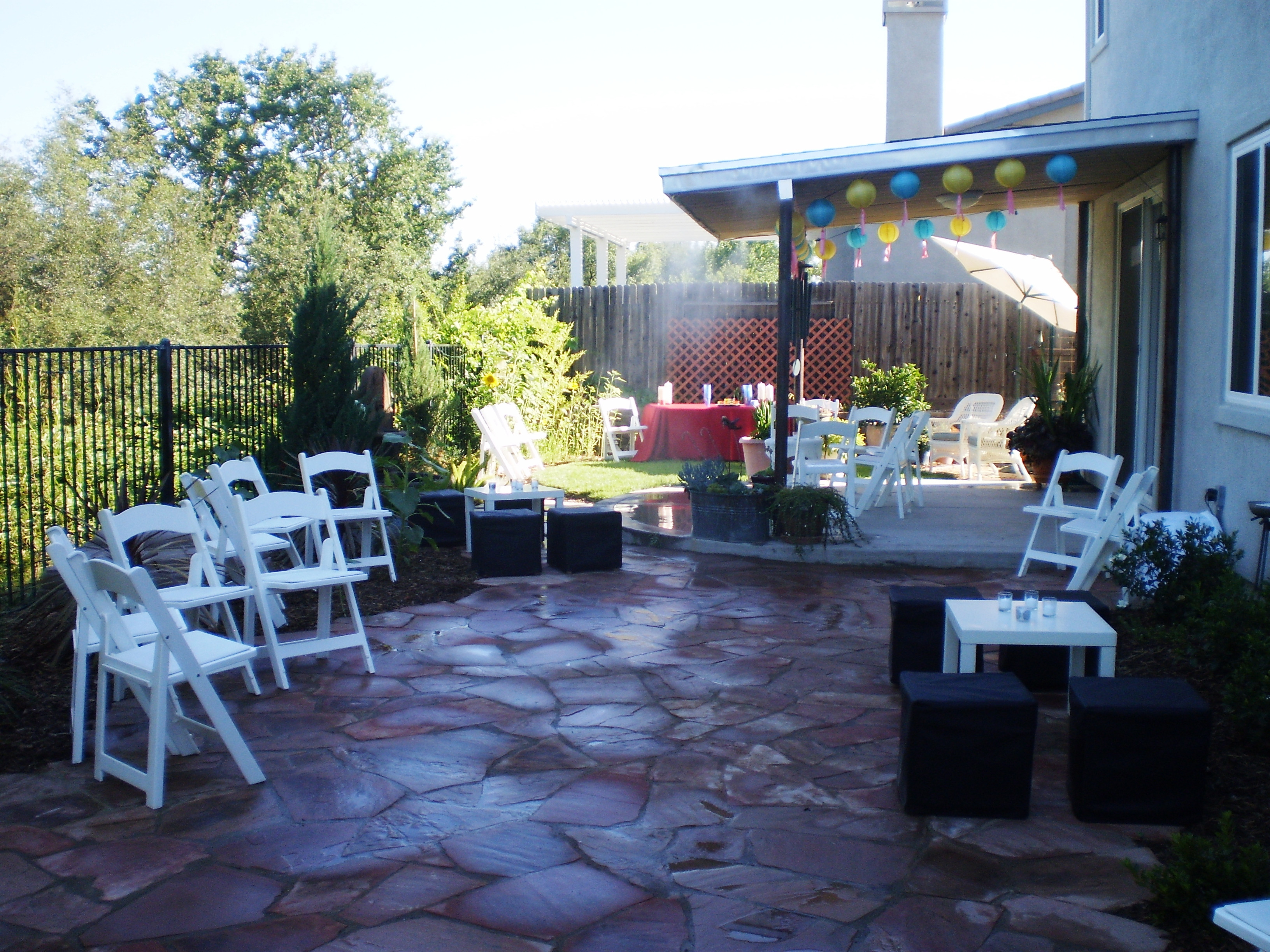 Backyard Party Set Up Ideas  The Bewildered Bride to Be Engagement Parties