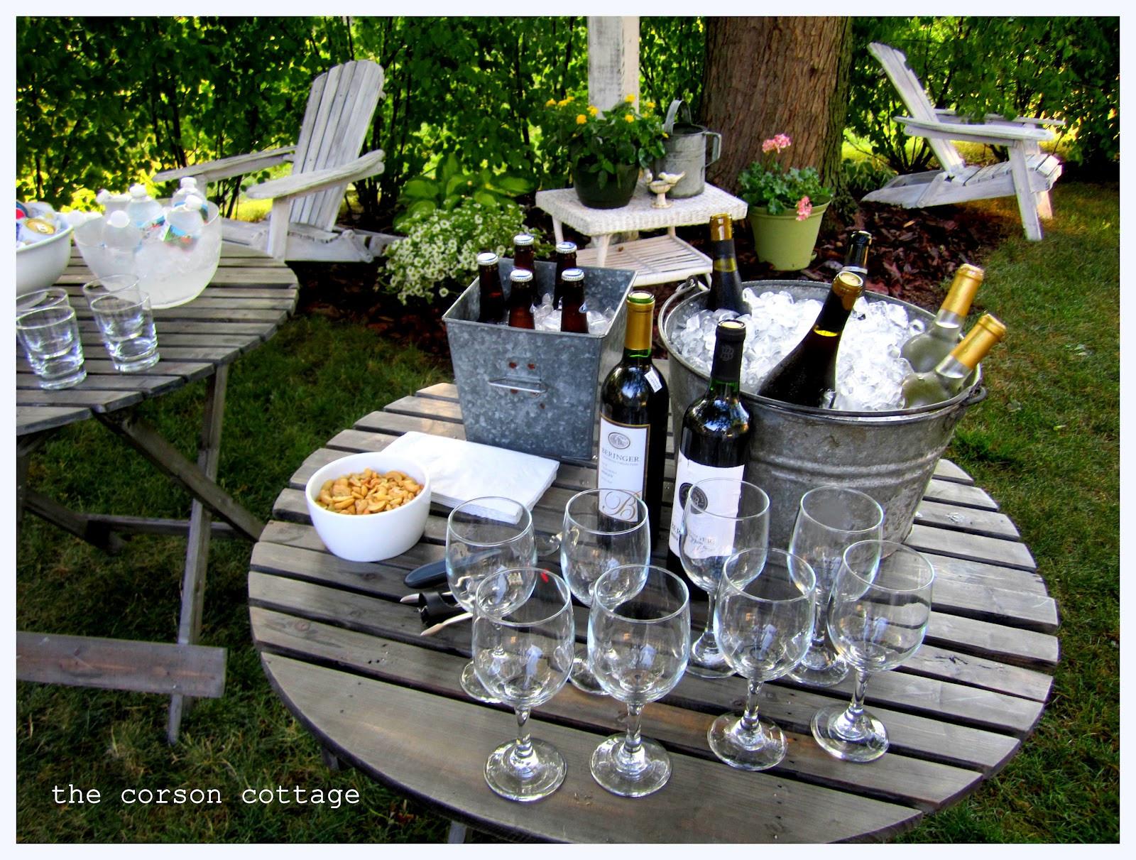 Backyard Party Set Up Ideas  the corson cottage Outdoor Entertaining Backyard Party