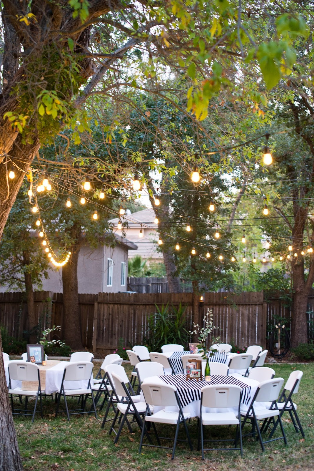 Backyard Party Set Up Ideas  Domestic Fashionista Backyard Birthday Party For the Guy