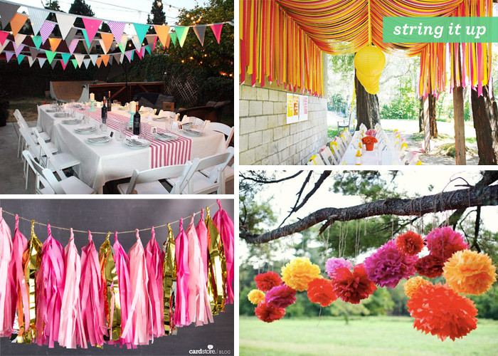 Backyard Summer Party Decorating Ideas  Backyard Gone Glam 1 outdoor party decoration ideas