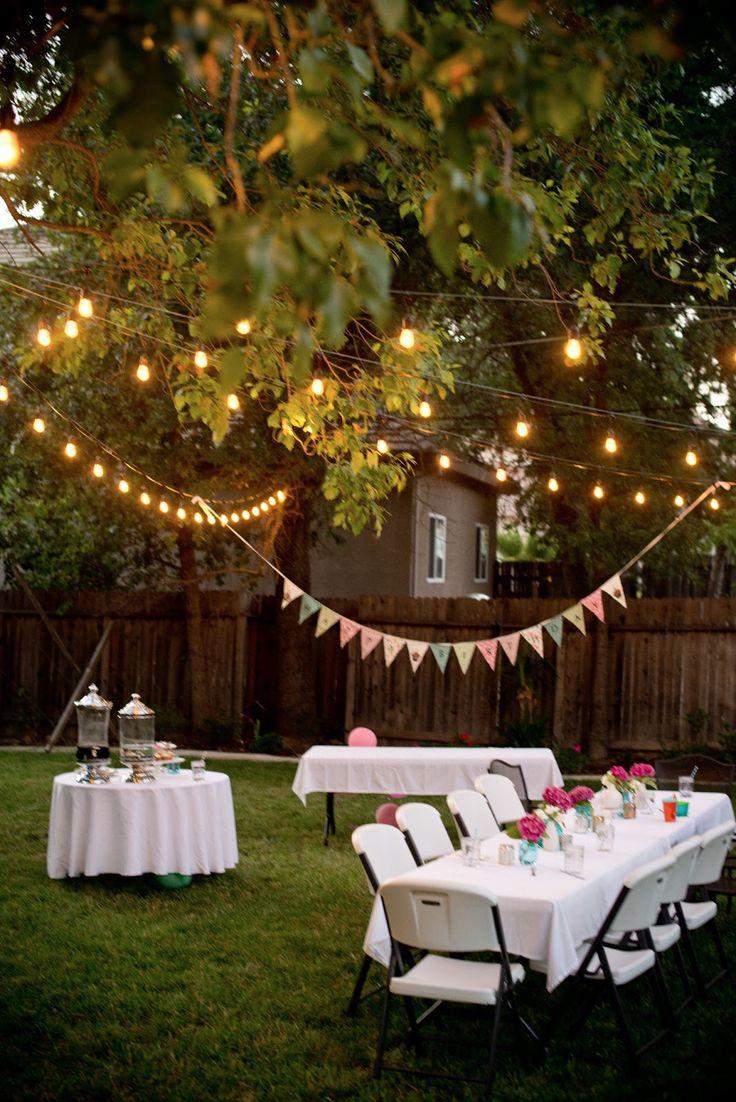 Backyard Summer Party Decorating Ideas  Best 25 Backyard parties ideas on Pinterest