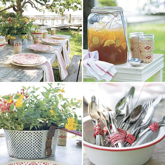 Backyard Summer Party Decorating Ideas  Beautiful decorative details for an outdoor party or