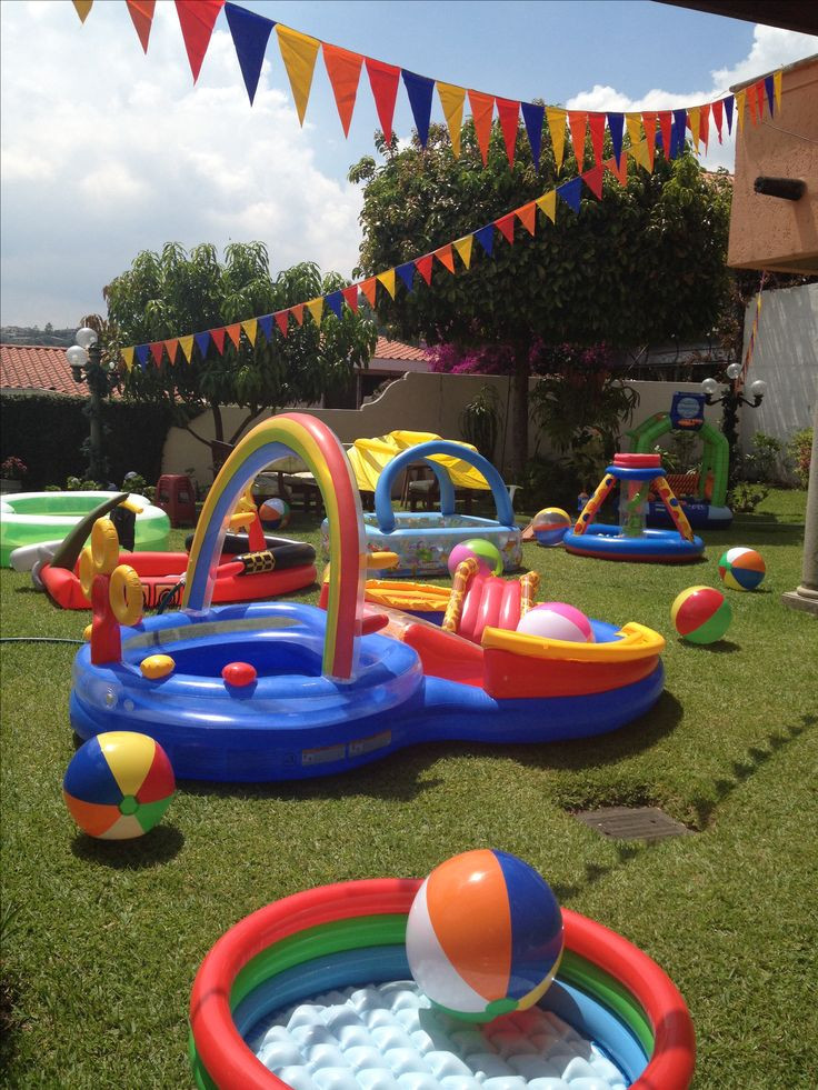 Backyard Water Park Party Ideas  25 best ideas about Water birthday parties on Pinterest