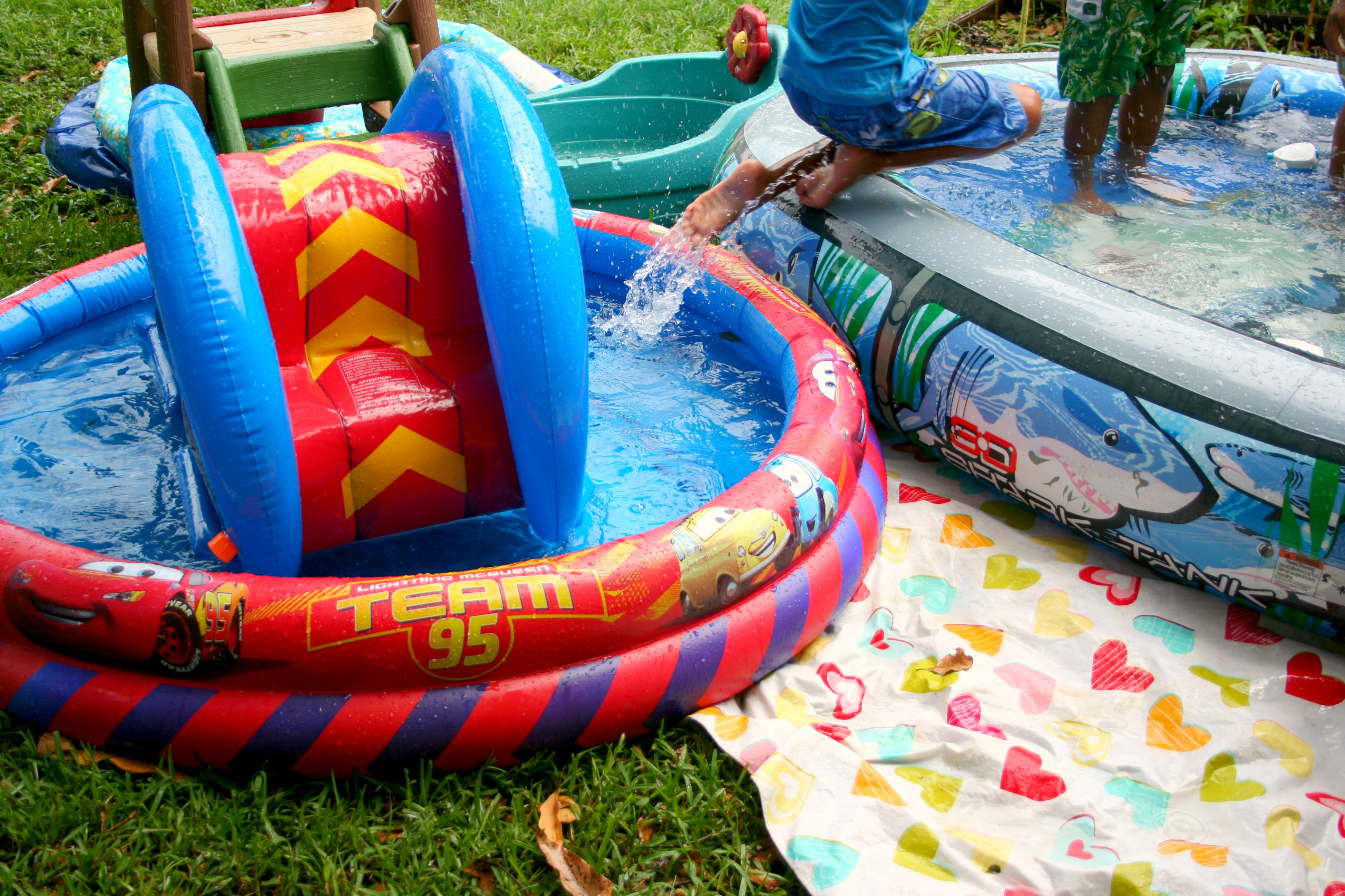 Backyard Water Park Party Ideas  A Frugal Summer Party with an ALDI Burger Bar Fruit