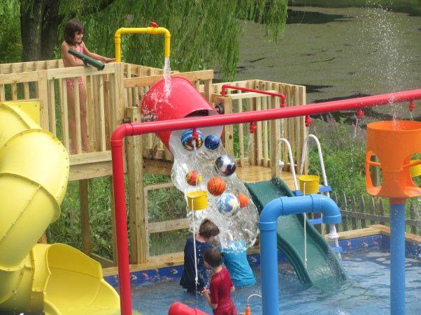 Backyard Water Park Party Ideas  25 best Backyard water parks ideas on Pinterest