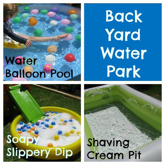 Backyard Water Park Party Ideas  Back Yard Water Park