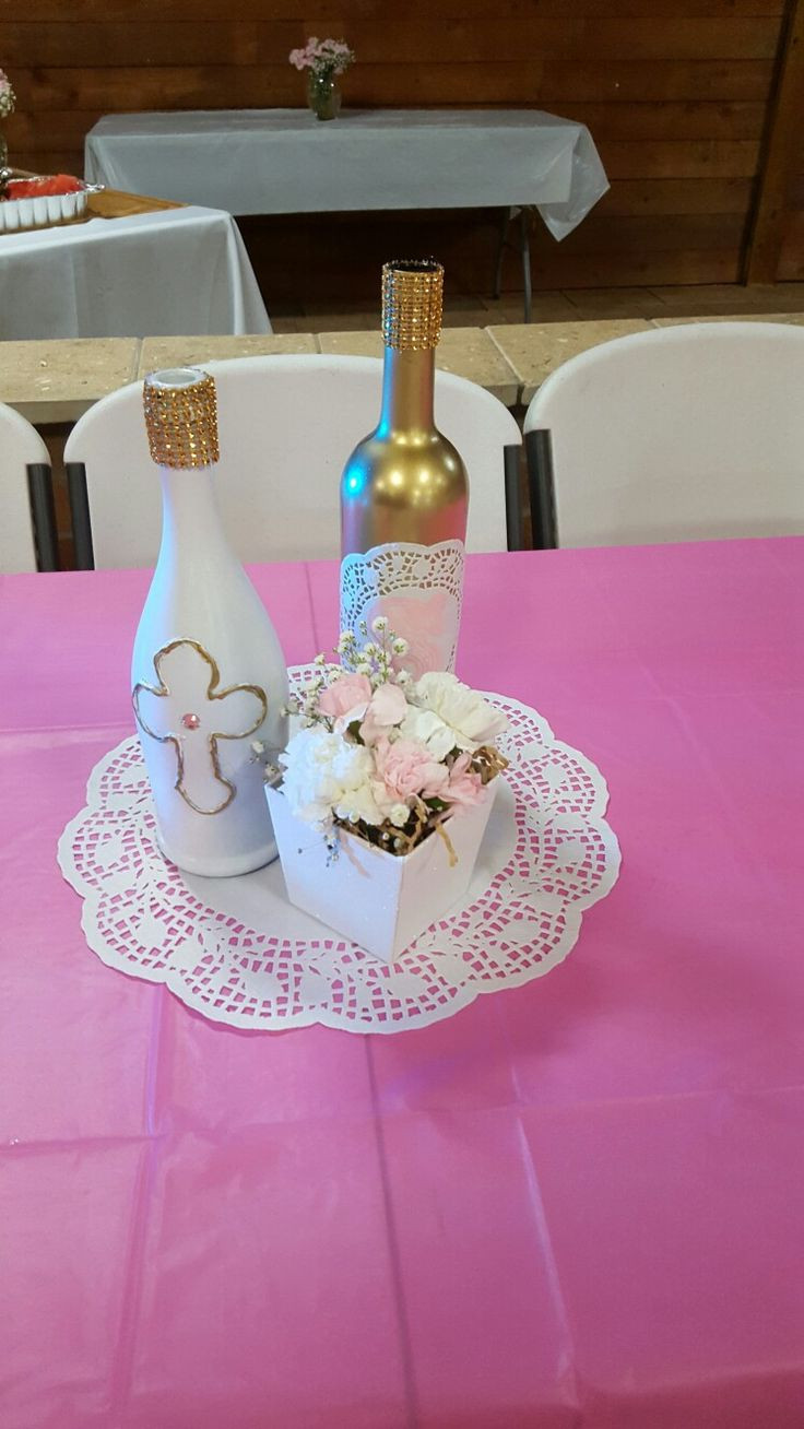 Baptism Gift Ideas For Baby Girl  Best 25 Girl baptism centerpieces ideas on Pinterest