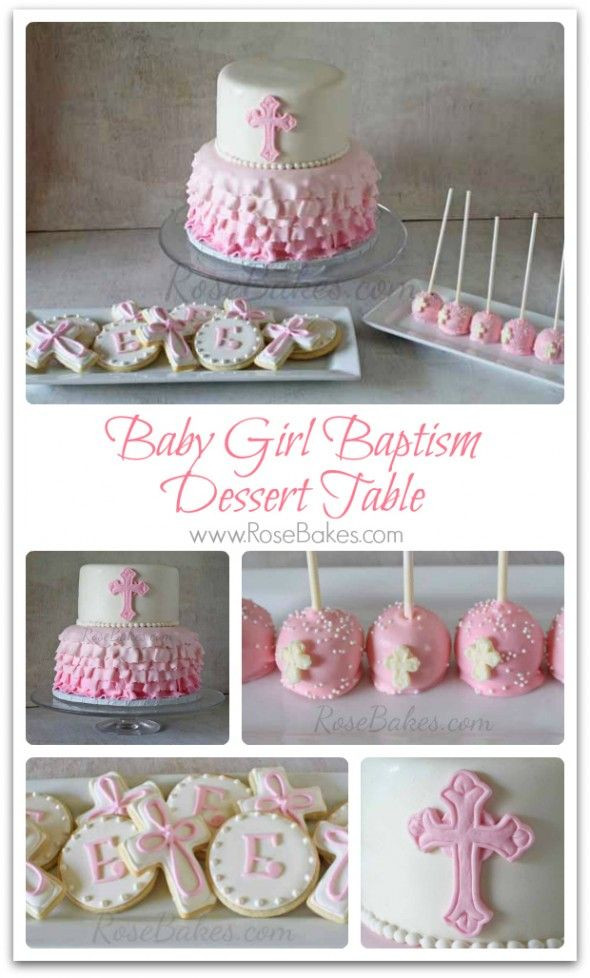 Baptism Gift Ideas For Baby Girl  Girl Baptism Cakes on Pinterest