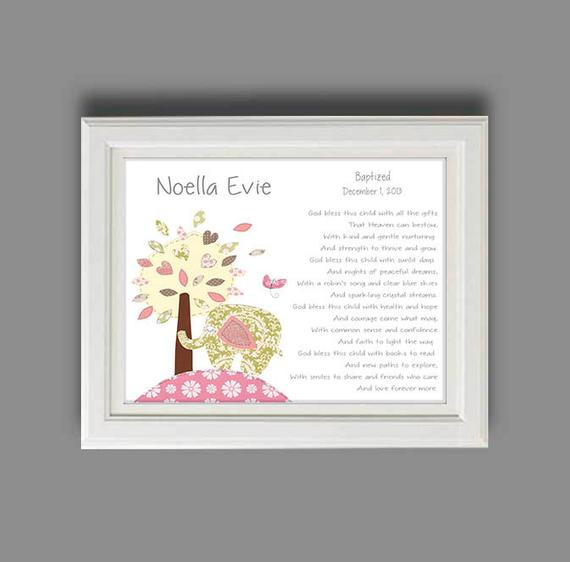 Baptism Gift Ideas For Baby Girl  Baby Girl Baptism Gift Christening Gifts for Girl Elephant
