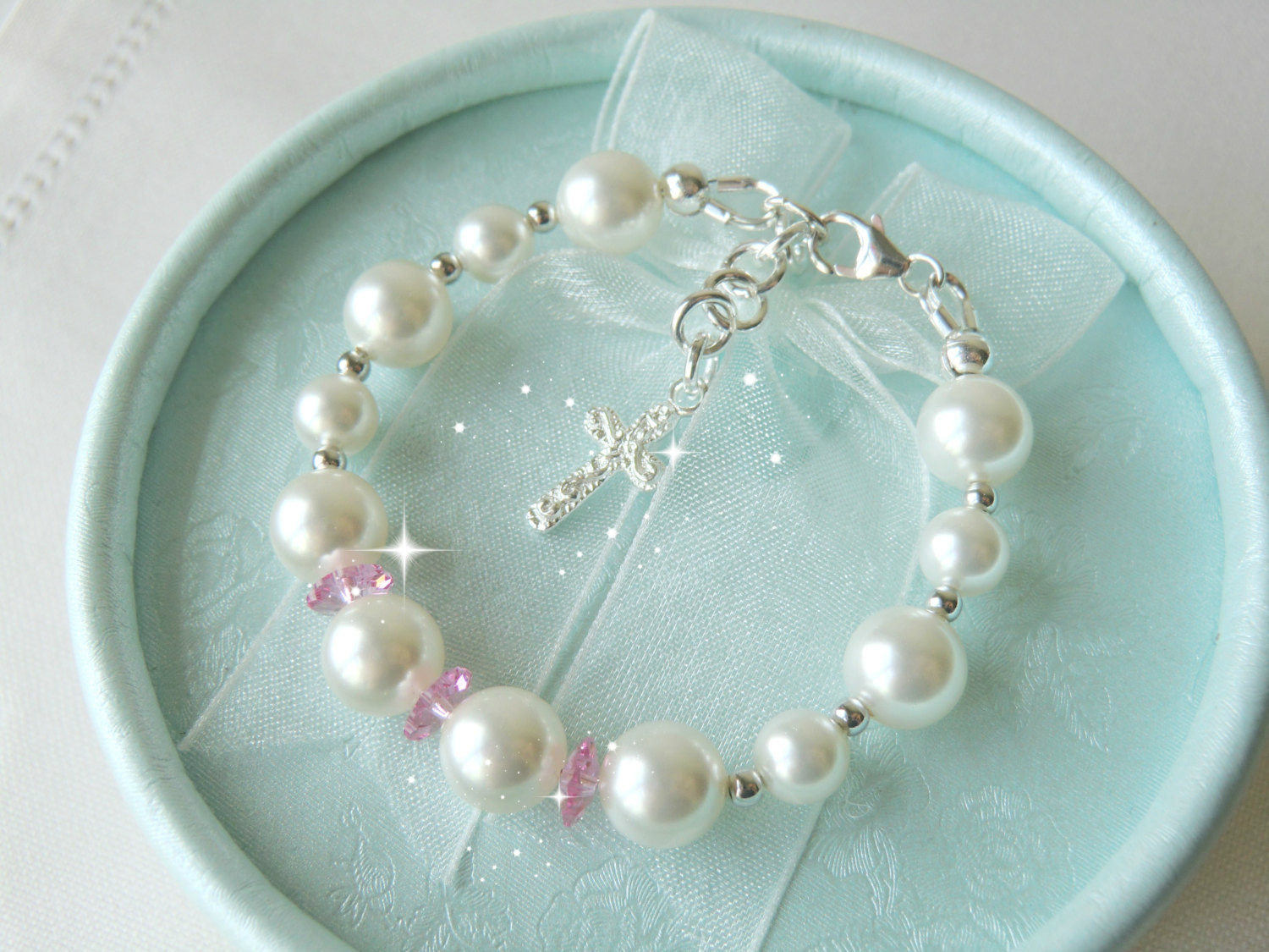 Baptism Gift Ideas For Baby Girl  Baby Christening Gifts Baby Shower Gift Bracelet for Baptism