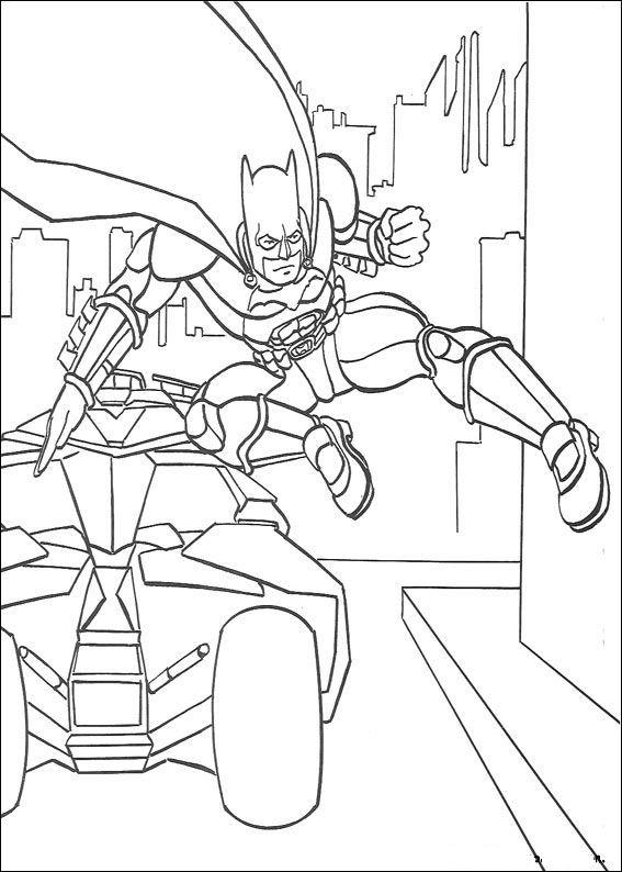 Batmobile Coloring Pages  Kids n fun