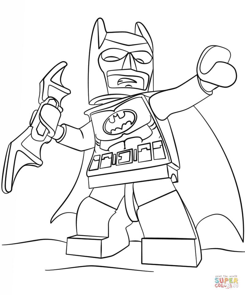 Batmobile Coloring Pages  Lego Batman coloring page