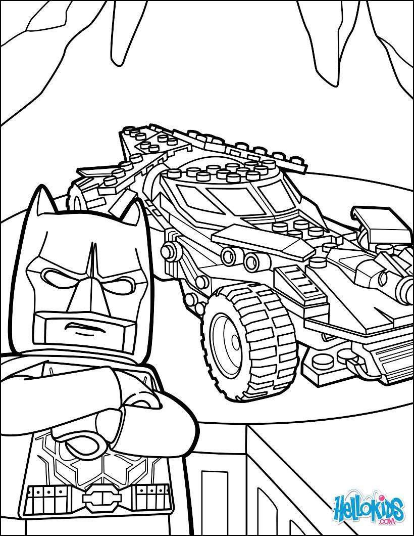 Batmobile Coloring Pages  Lego batman batmobile coloring pages Hellokids
