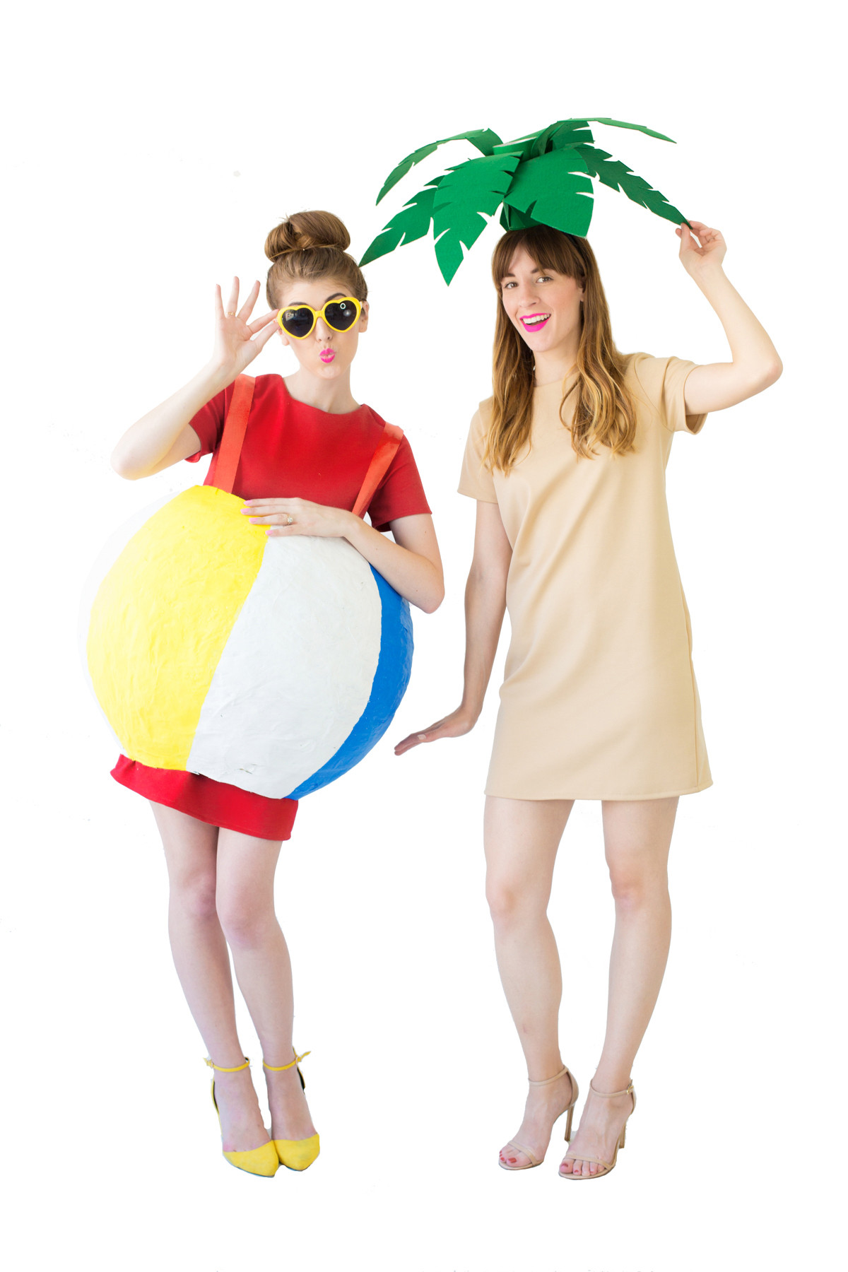 Beach Party Costume Ideas  DIY Palm Tree Beach Ball Costumes Studio DIY