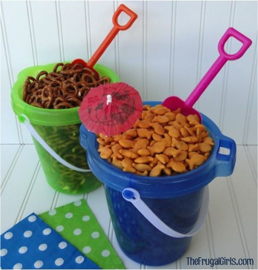 Beach Party Food Ideas Kids  Beach Buckets To Serve Snacks s and