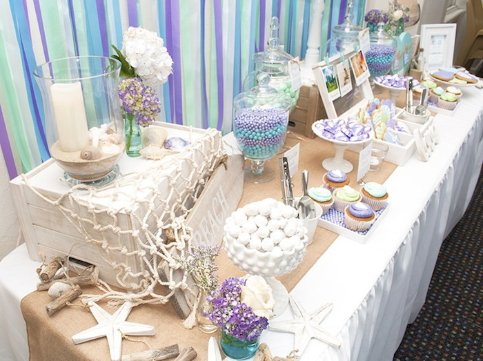 Beach Party Theme Ideas  Kara s Party Ideas Beach Themed Engagement Party Planning
