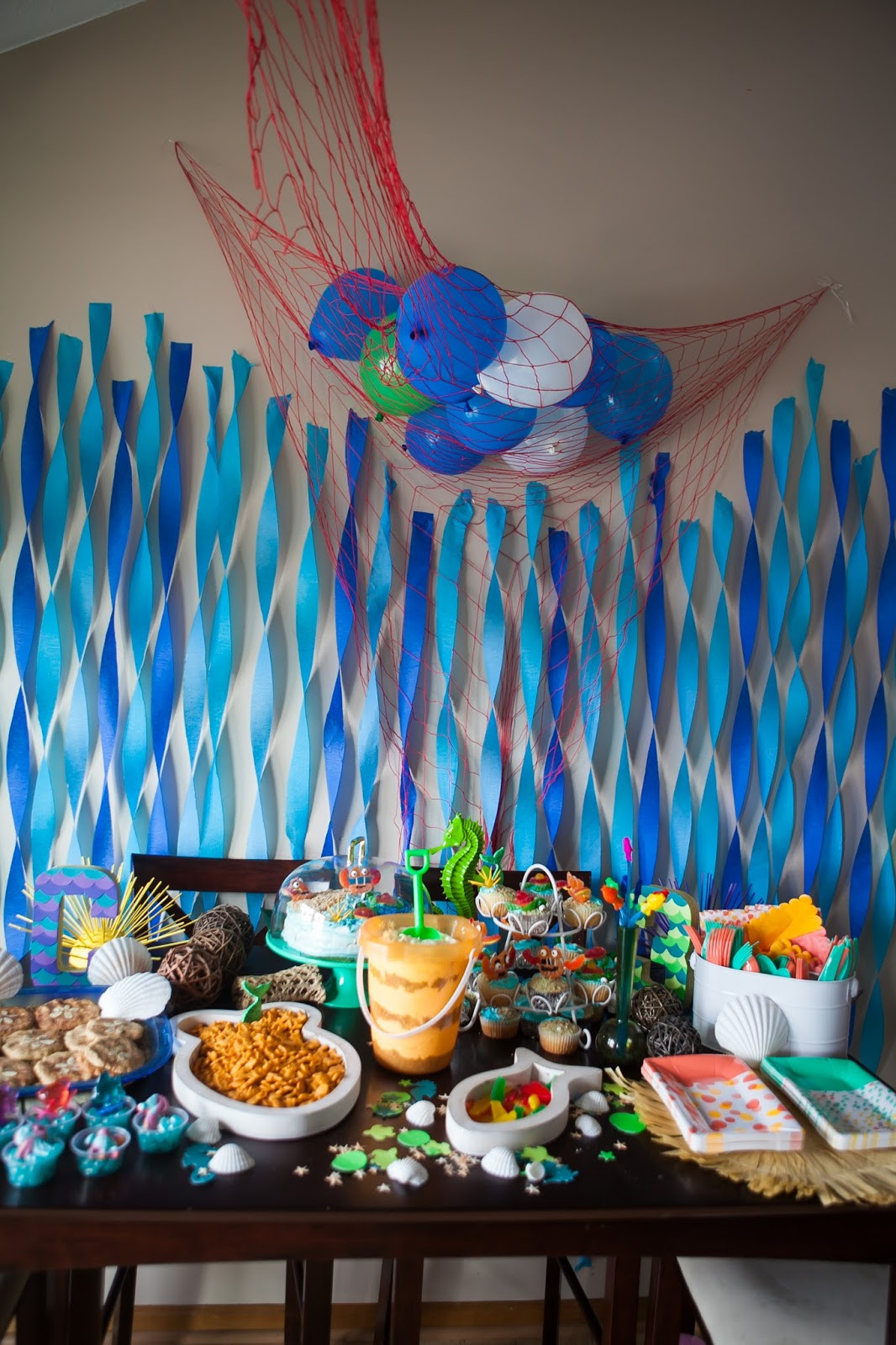 Beach Party Theme Ideas  You Are My Licorice Carys s Third Birthday Under the Sea