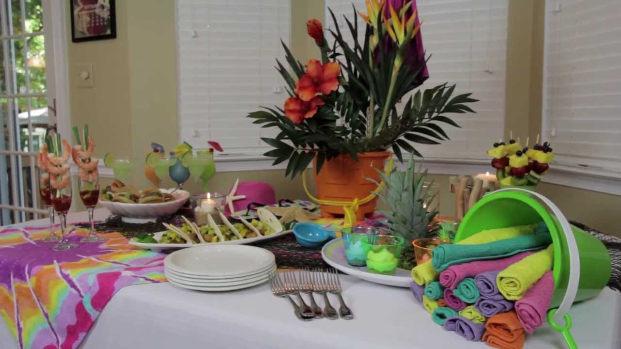 Beach Party Theme Ideas  How to Make Indoor Beach Party Decorations