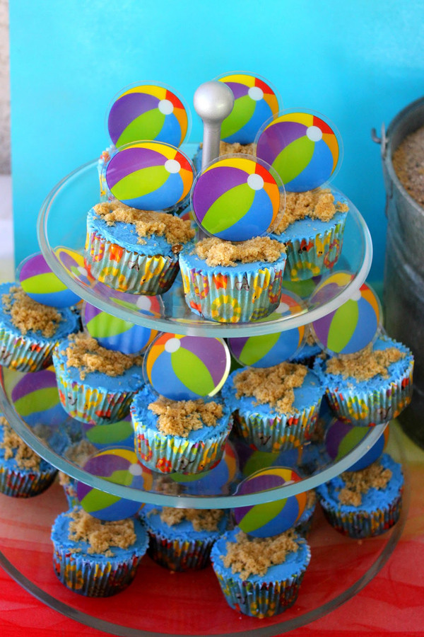 Beach Party Theme Ideas  Kara s Party Ideas Beach Ball Birthday Party Supplies