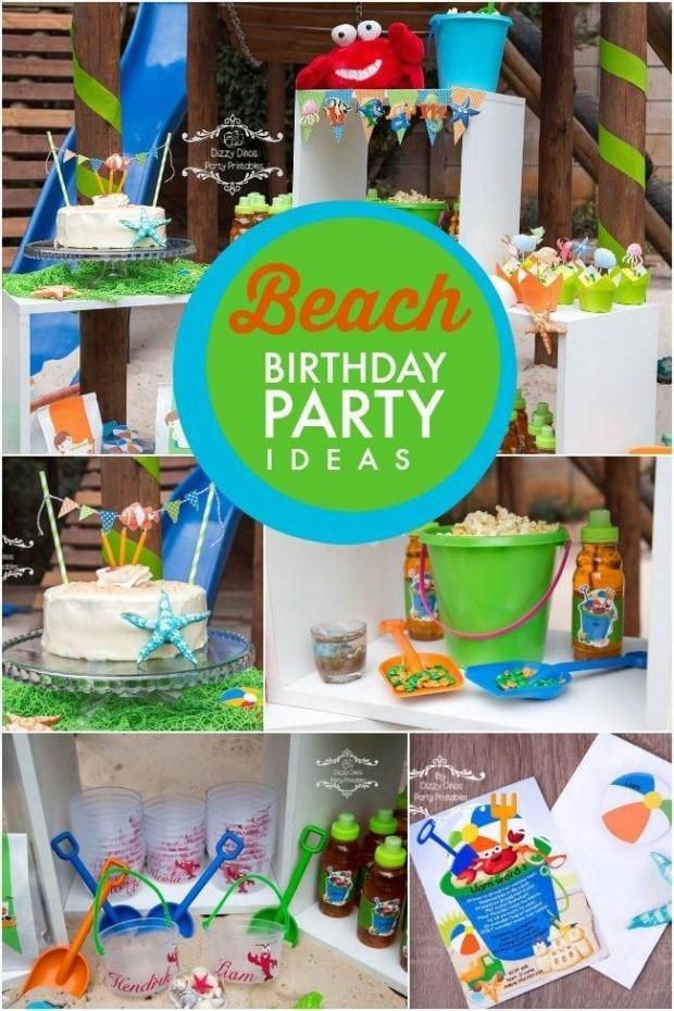 Beach Party Theme Ideas  A Boy s Beach Themed 3rd Birthday Party
