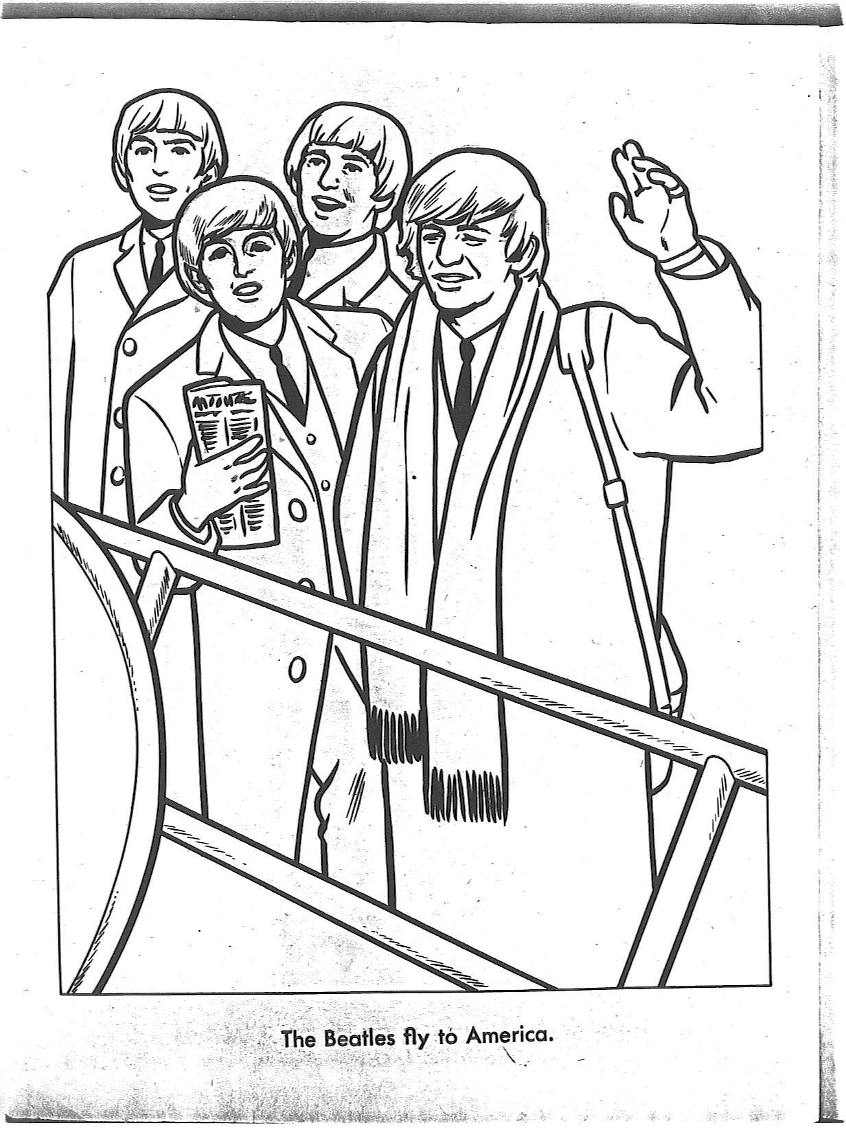 Beatles Coloring Book  The Beatles Para Colorear Taringa