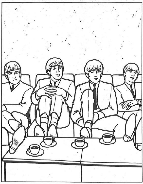 Beatles Coloring Book  Kids n fun