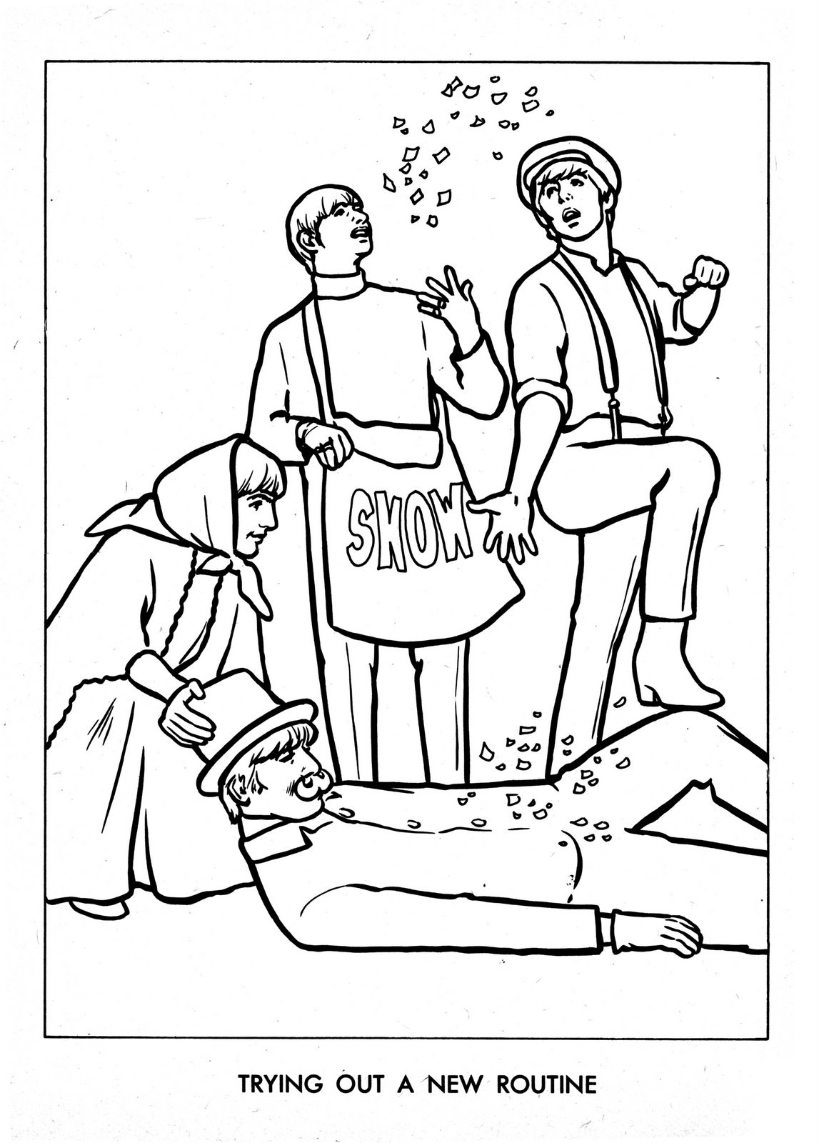Beatles Coloring Book  The Beatles Color Book Taringa