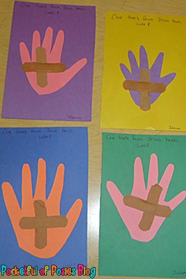 Bible Craft For Preschoolers  Sunday School Crafts Jesus Heals Sunday school