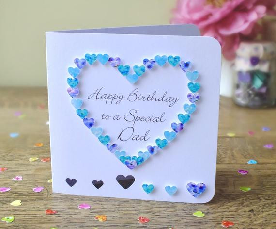 Birthday Card For Father From Daughter  Dad Birthday Card Daddy Card Father Card Handmade