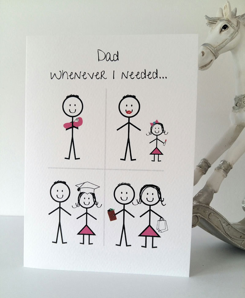Birthday Card For Father From Daughter  Happy Birthday Dad from Daughter Card daddy birthday