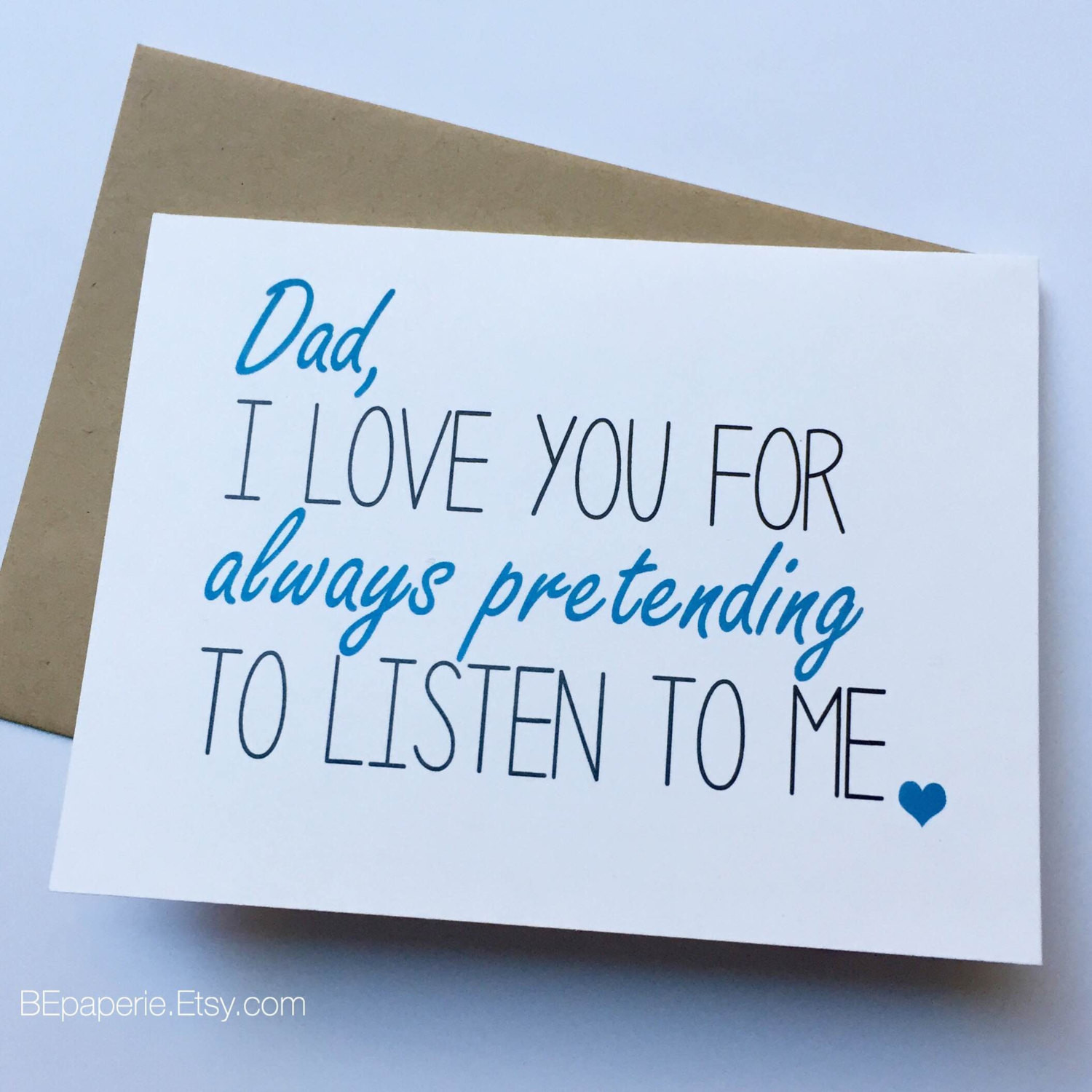 Birthday Card For Father From Daughter  Dad Card Dad from Daughter Dad Birthday Card