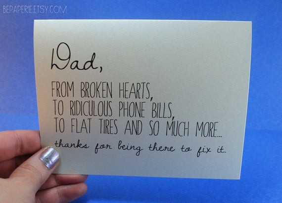 Birthday Card For Father From Daughter  Dad Card Father s Day Card Dad Birthday Card Funny