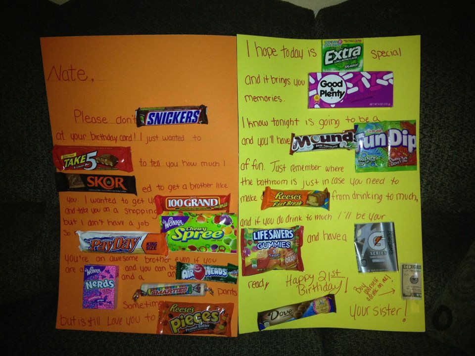 Birthday Card Ideas For Brother  My Brother s 21st birthday card b days