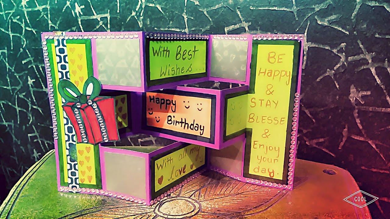 Birthday Card Ideas For Brother  diy birthday greeting card handmade card for birthday tri