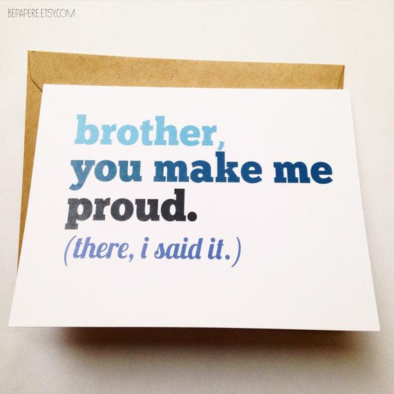Birthday Card Ideas For Brother  Brother Card Brother Birthday Card Funny Card Card for