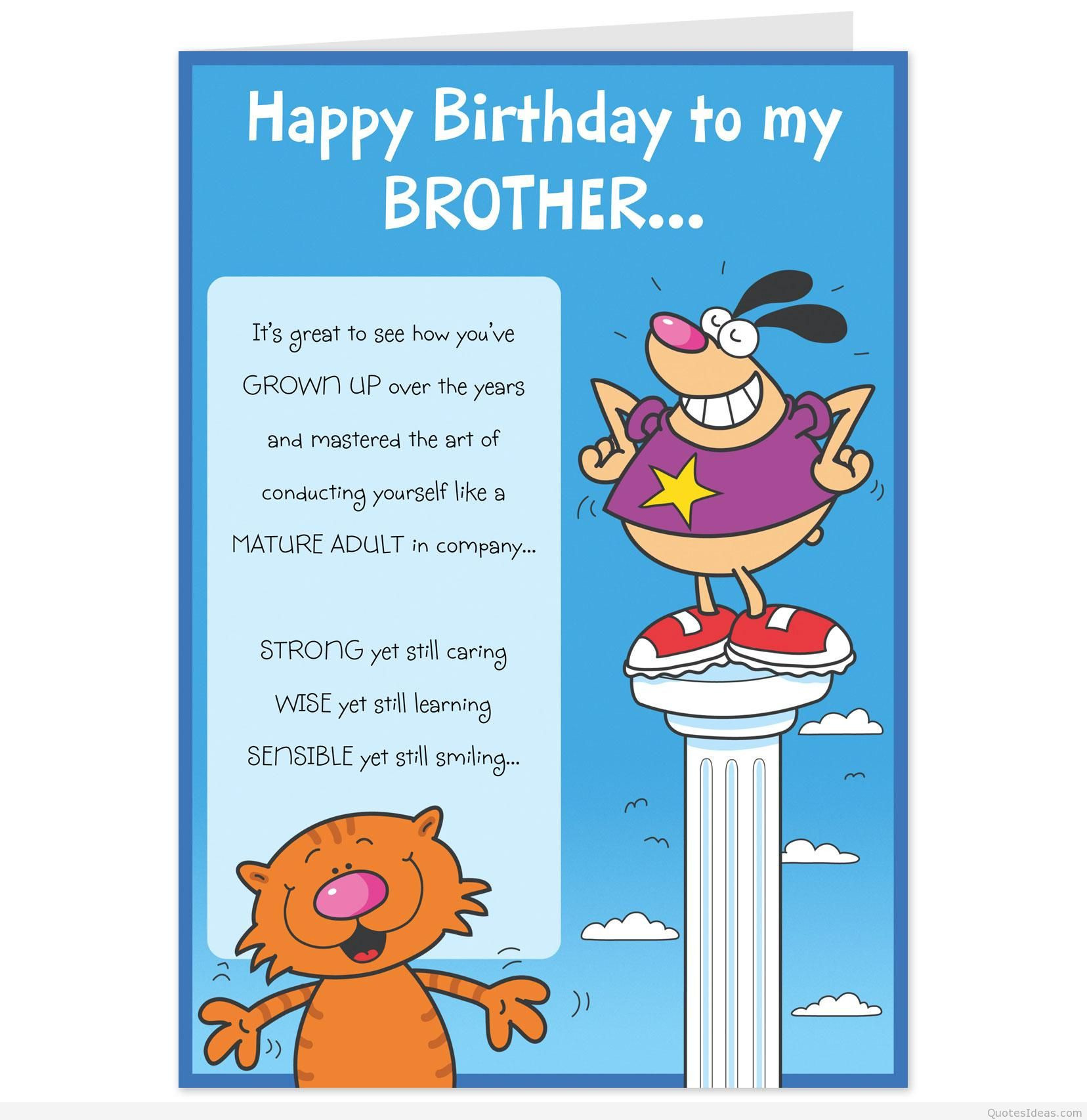 Birthday Card Ideas For Brother  Happy birthday to my brother messages quotes