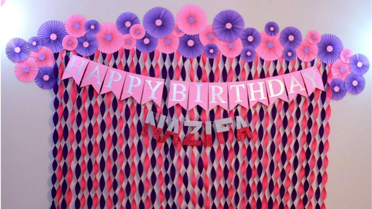 Birthday Decorations Ideas At Home  Birthday Decoration Ideas at Home