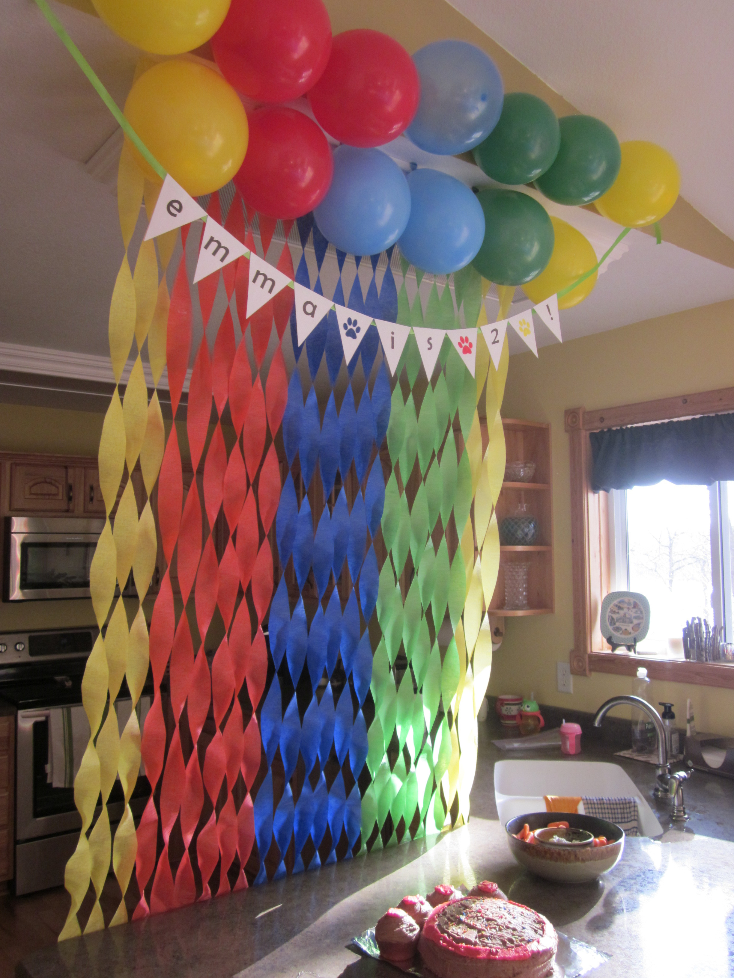 Birthday Decorations Ideas At Home  Emma's 2nd Birthday Party