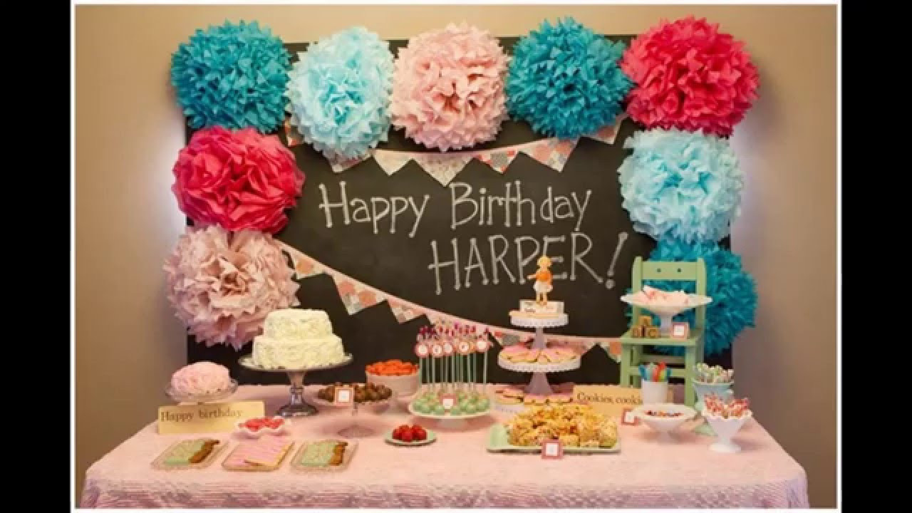 Birthday Decorations Ideas At Home  Best ideas Baby boy first birthday party decoration