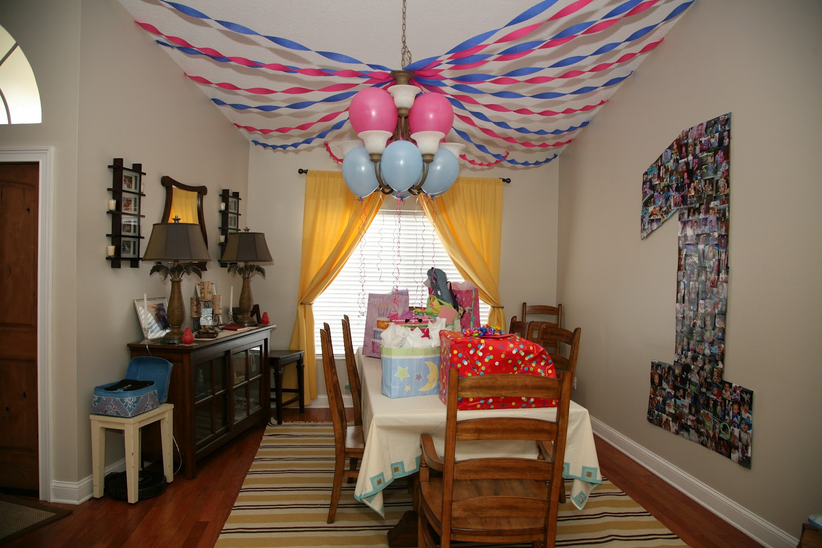 Birthday Decorations Ideas At Home  Kara s Korner Kalia s First Birthday Party