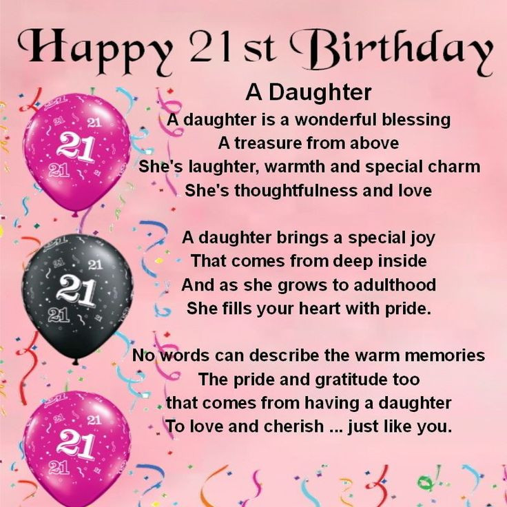 Birthday Gift Ideas For Daughter Turning 21  Happy 21st Birthday Wishes to Daughter