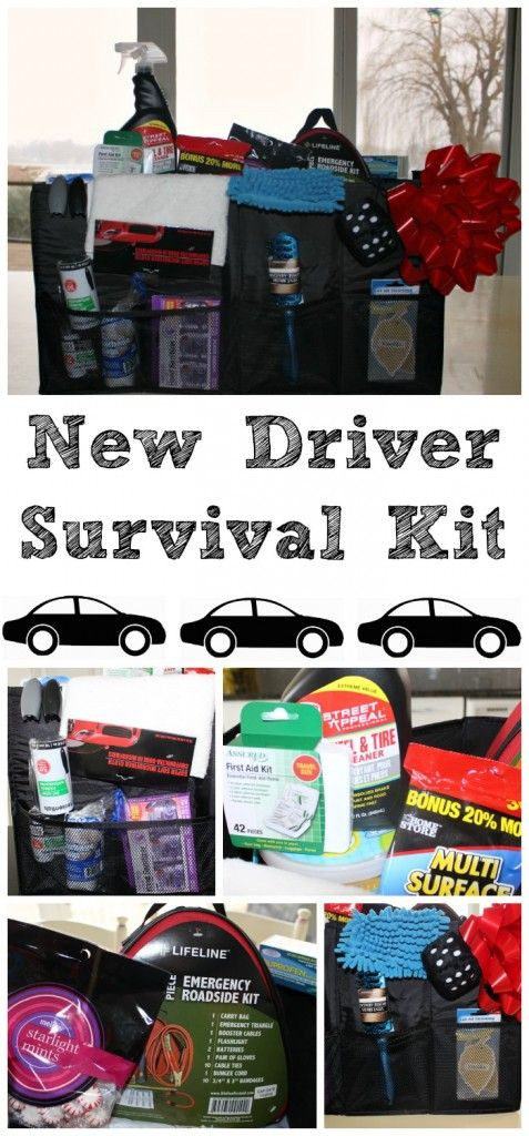 Birthday Gifts For A 16 Year Girl  New driver survival a great DIY t for your new driver