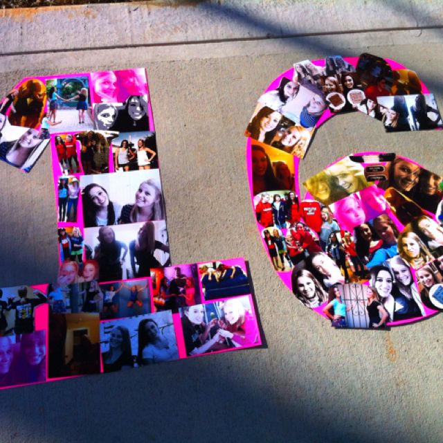 Birthday Gifts For A 16 Year Girl  we could make this with the pics th girls take then
