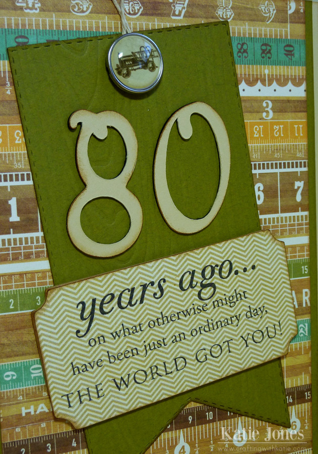 Birthday Party Ideas For 80 Year Old Woman  crafting with katie 80th Birthday Card