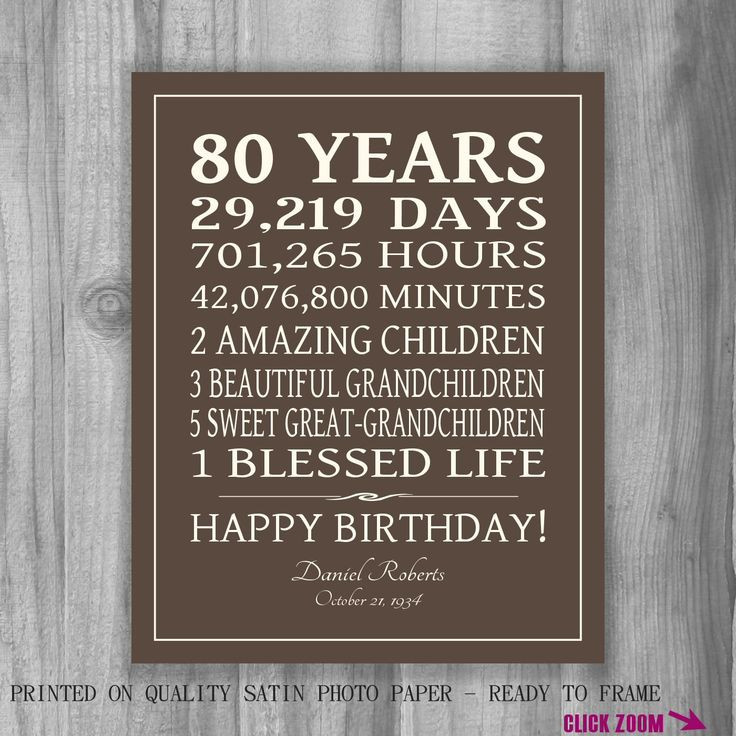 Birthday Party Ideas For 80 Year Old Woman  25 best ideas about 80th Birthday Gifts on Pinterest