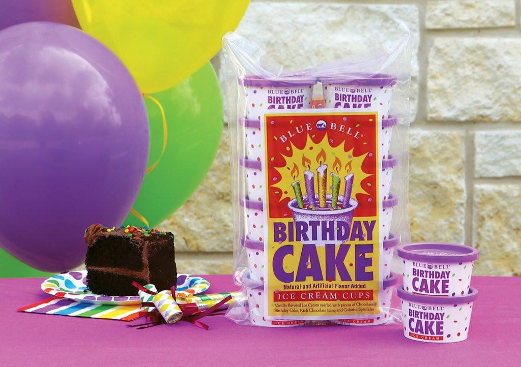 Blue Bell Birthday Cake Ice Cream  Blue Bell Ice Cream ILoveBlueBell