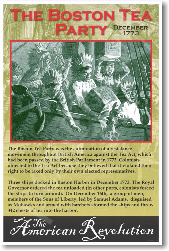 Boston Tea Party Poster Ideas  Boston Tea Party 1773 Social Stu s US History POSTER