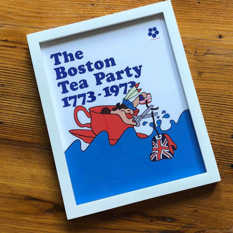 "Boston Tea Party Poster Ideas  ""The Boston Tea Party Bicentennial Poster"" Framed print"