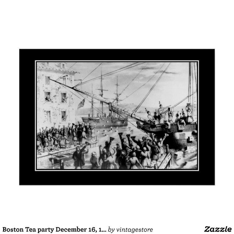 Boston Tea Party Poster Ideas  Boston Tea party December 16 1773 Poster