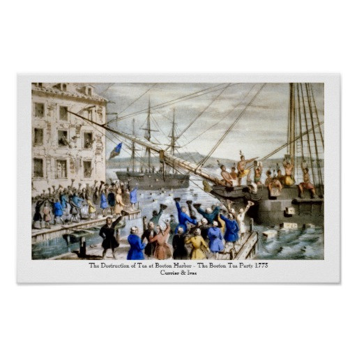 Boston Tea Party Poster Ideas  Currier & Ives Poster The Boston Tea Party